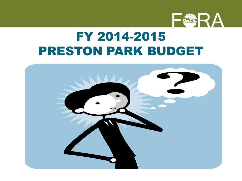 FY 2014-2015 PRESTON PARK BUDGET