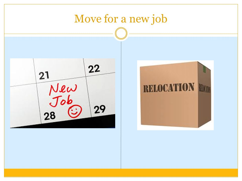 Move for a new job