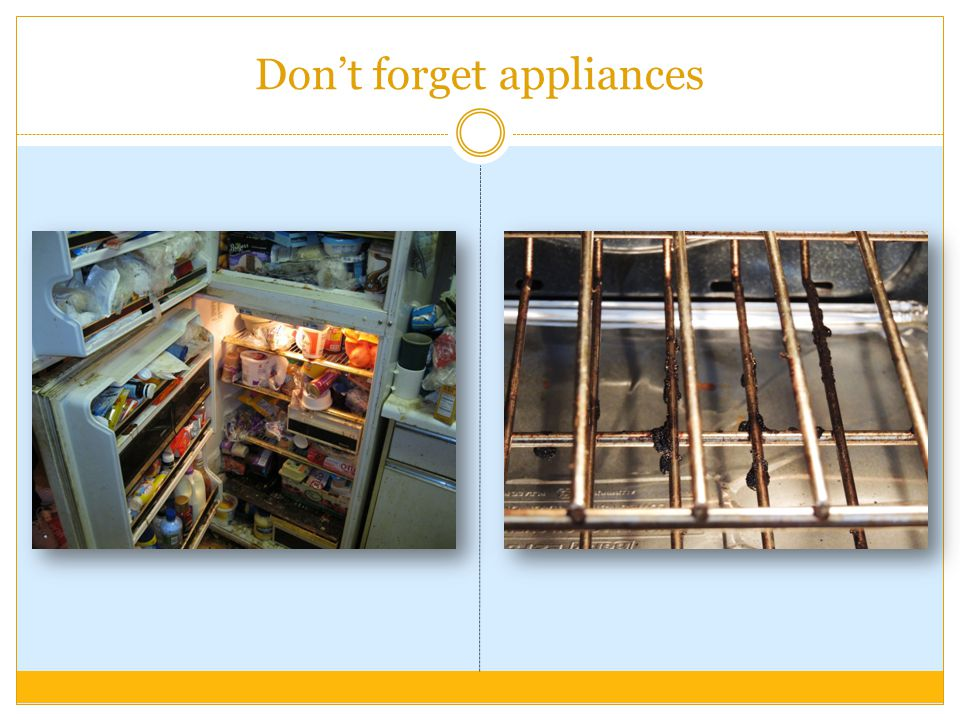 Don't forget appliances