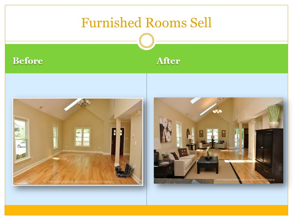Before After Furnished Rooms Sell