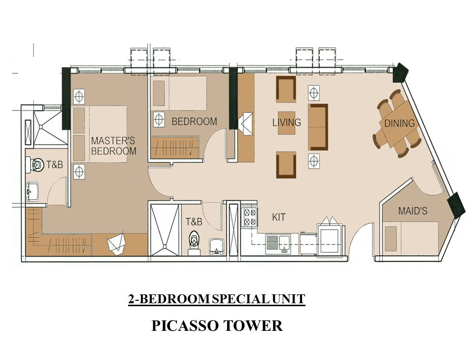2-BEDROOM SPECIAL UNIT PICASSO TOWER