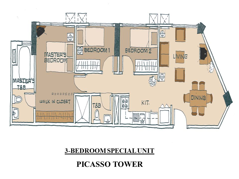 3-BEDROOM SPECIAL UNIT PICASSO TOWER