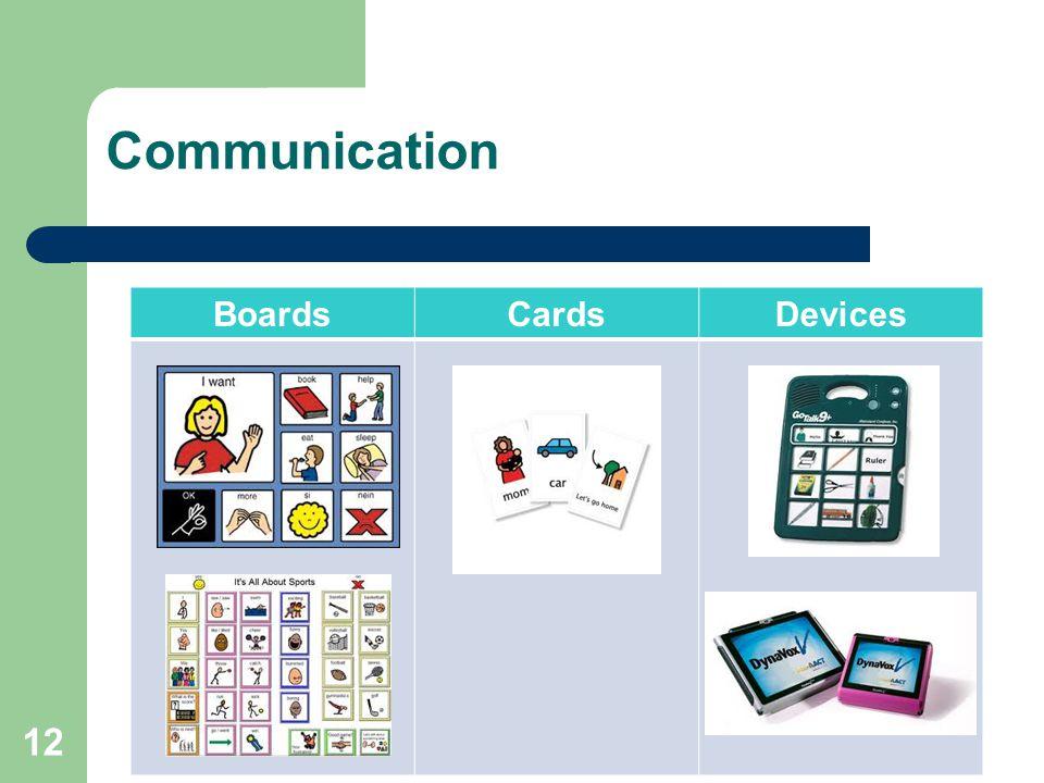 12 Communication BoardsCardsDevices