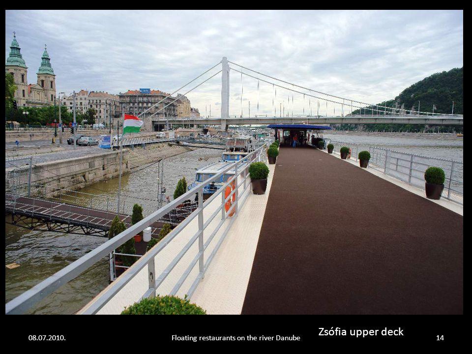 08.07.2010.Floating restaurants on the river Danube13 Zsófia upper deck