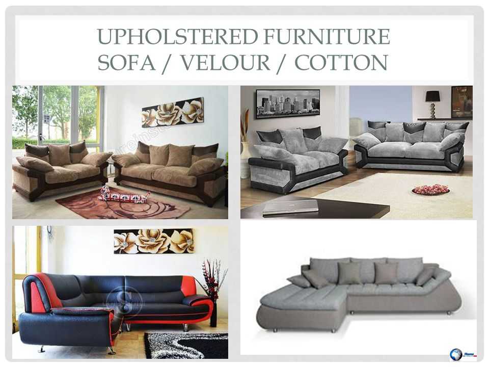 UPHOLSTERED FURNITURE SOFA / VELOUR / COTTON