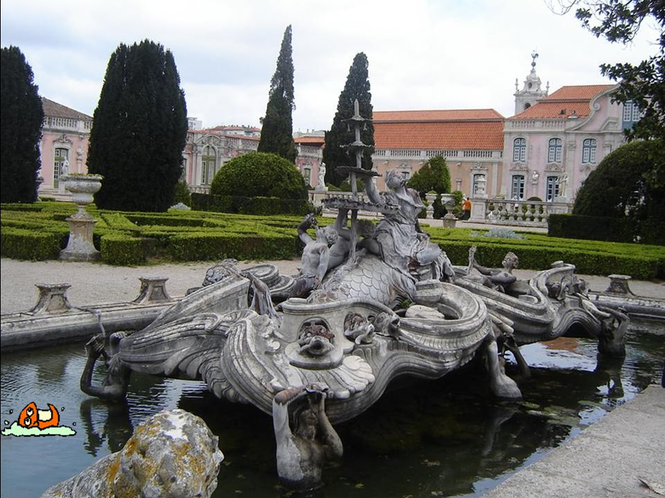 The gardens have many statues and fountains.