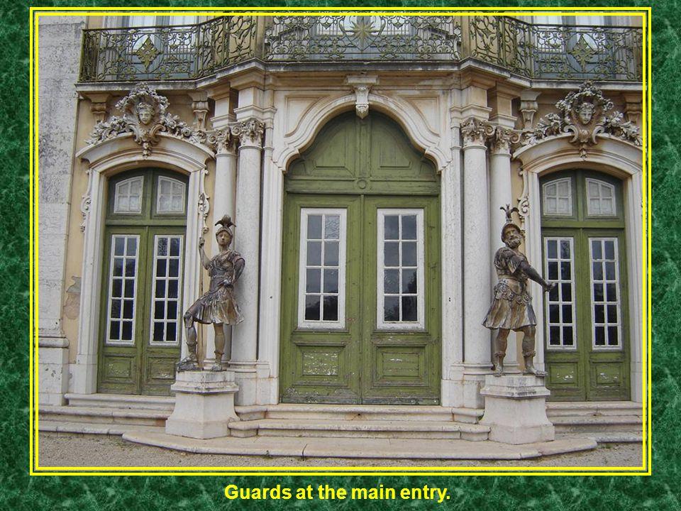 Guards at the main entry.