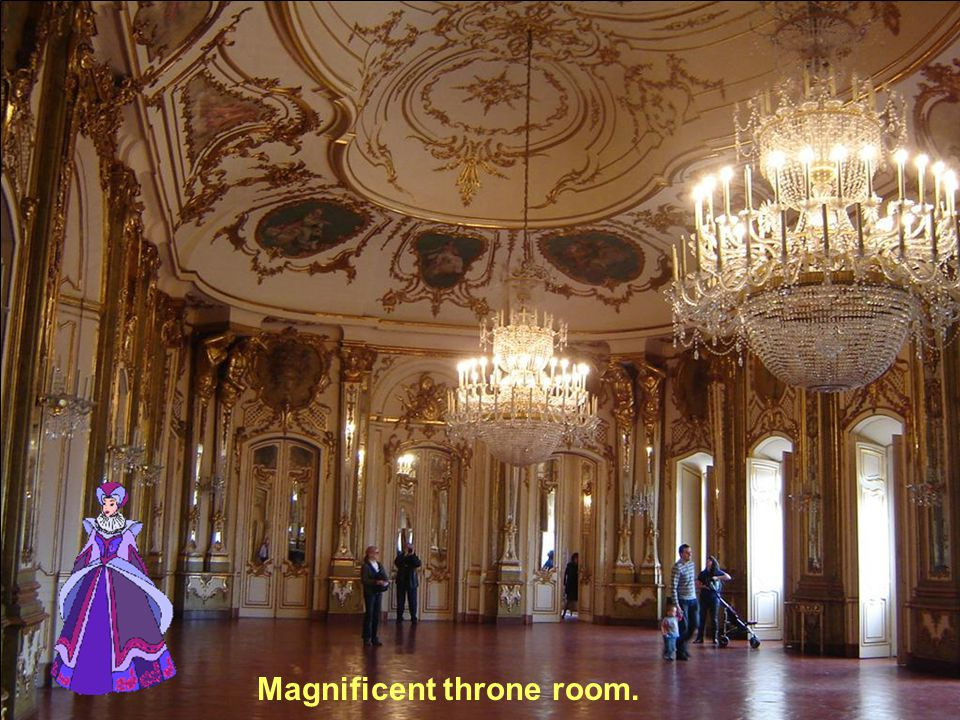Magnificent throne room.