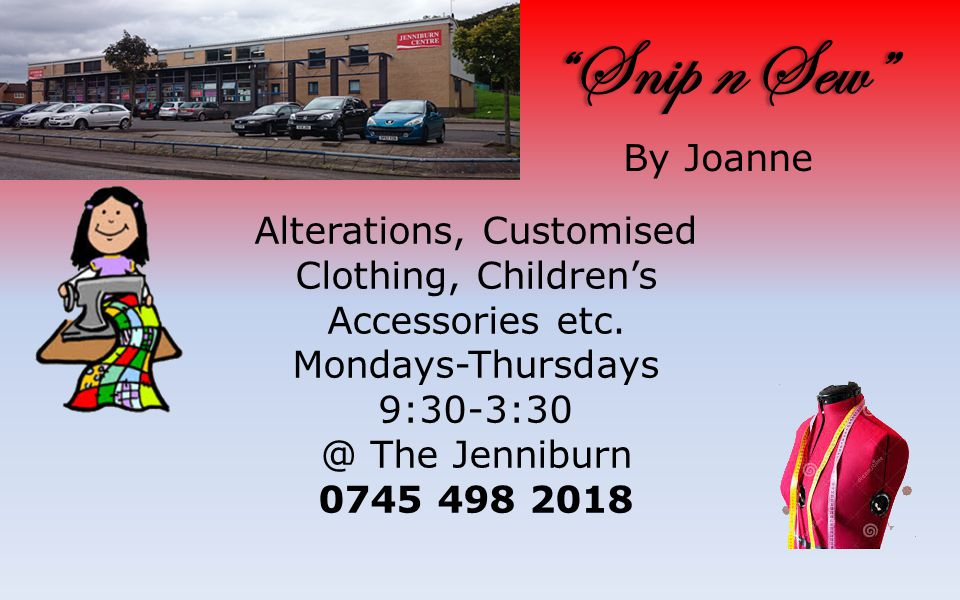 Snip n Sew Snip n Sew By Joanne Alterations, Customised Clothing, Children's Accessories etc.
