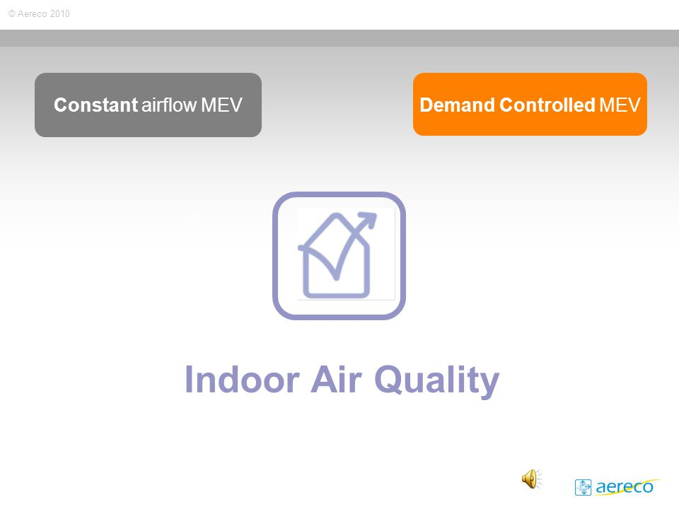 © Aereco 2010 Indoor Air Quality Constant airflow MEV Demand Controlled MEV