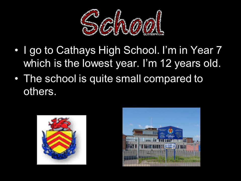 I go to Cathays High School. I'm in Year 7 which is the lowest year.