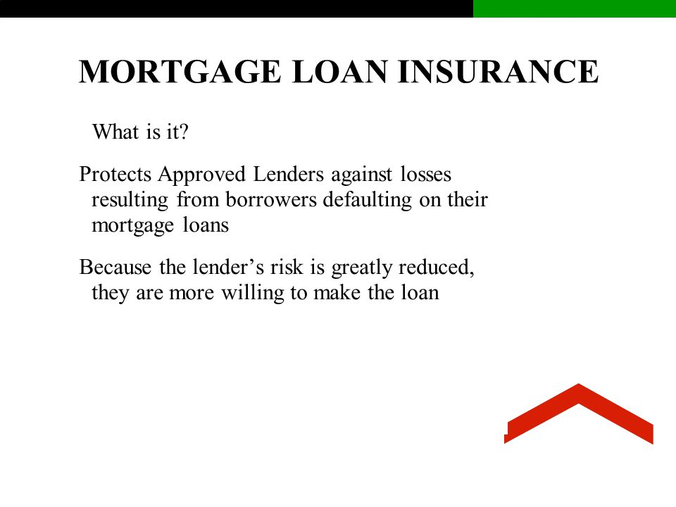 MORTGAGE LOAN INSURANCE What is it.