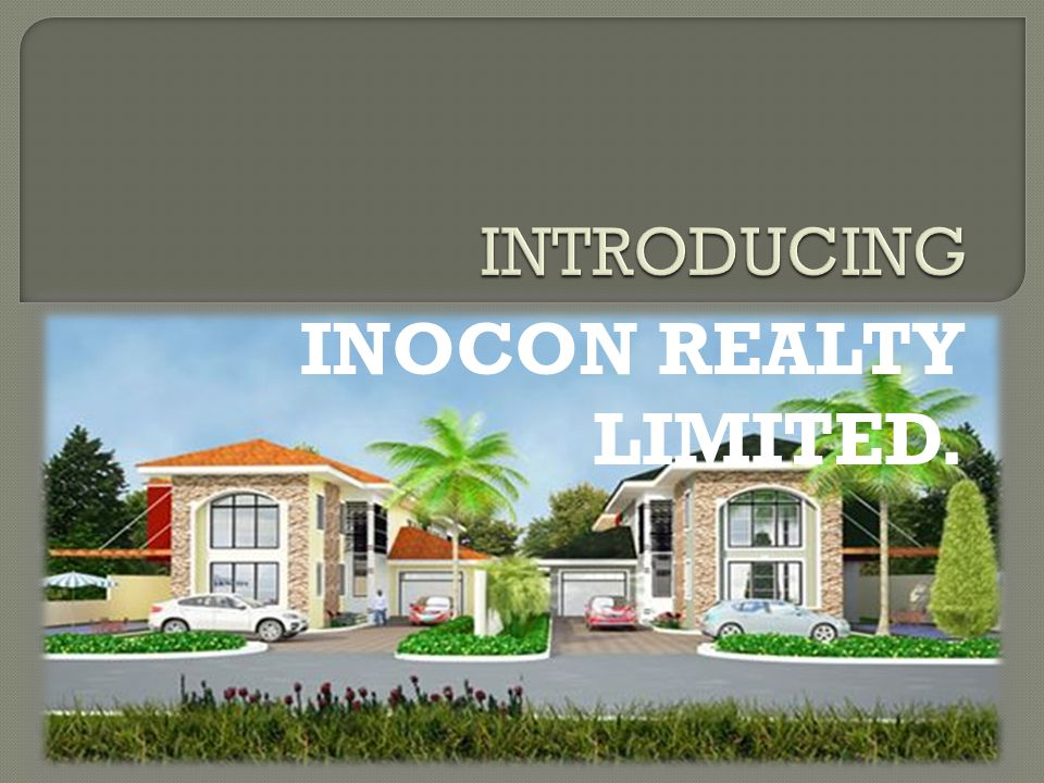 INOCON REALTY LIMITED.