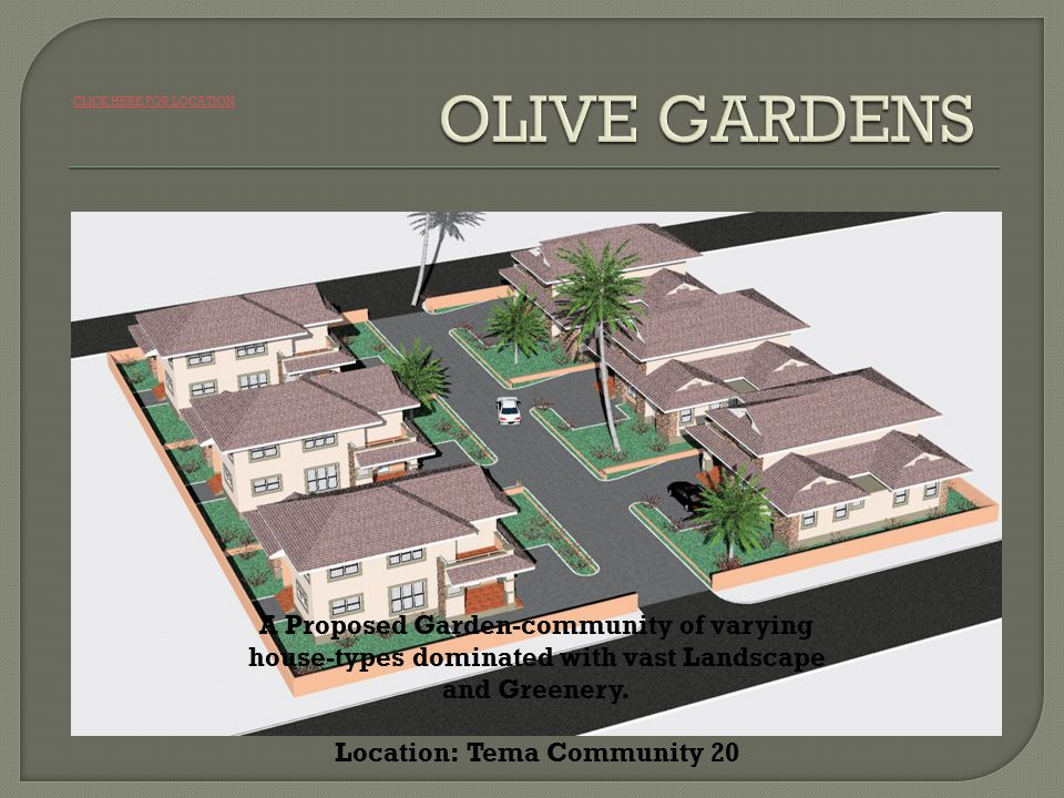A Proposed Garden-community of varying house-types dominated with vast Landscape and Greenery.