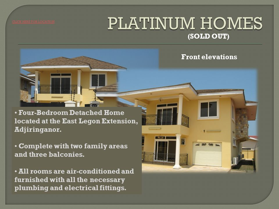 Front elevations Four-Bedroom Detached Home located at the East Legon Extension, Adjiringanor.