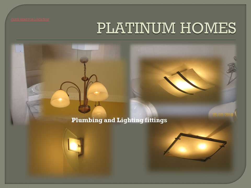 Plumbing and Lighting fittings CLICK HERE FOR LOCATION
