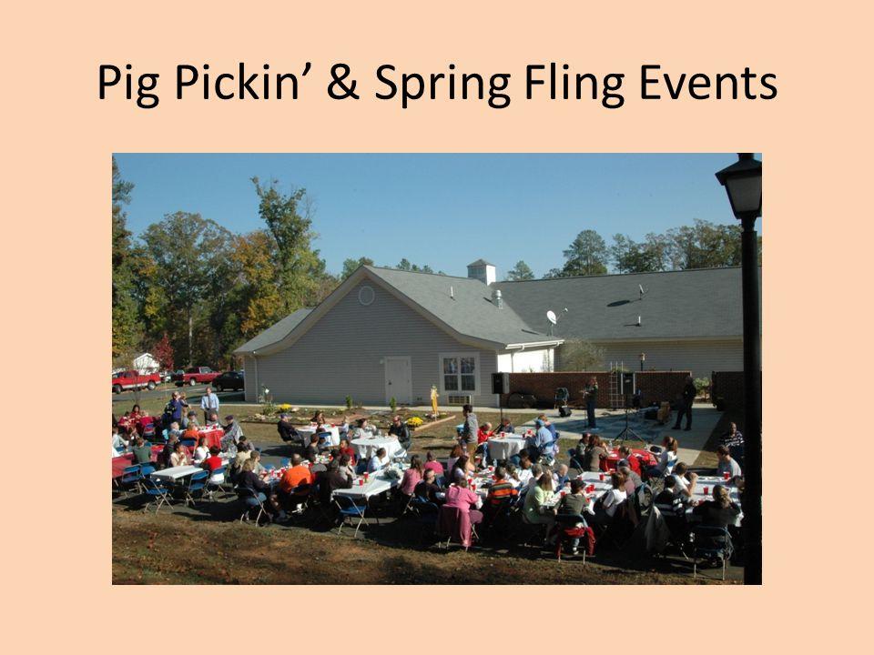 Pig Pickin' & Spring Fling Events