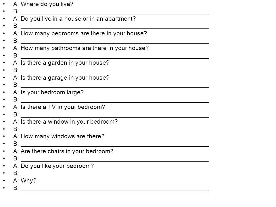 A: Where do you live.
