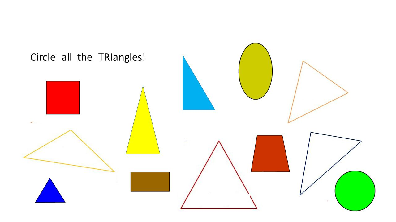 Circle all the TRIangles!