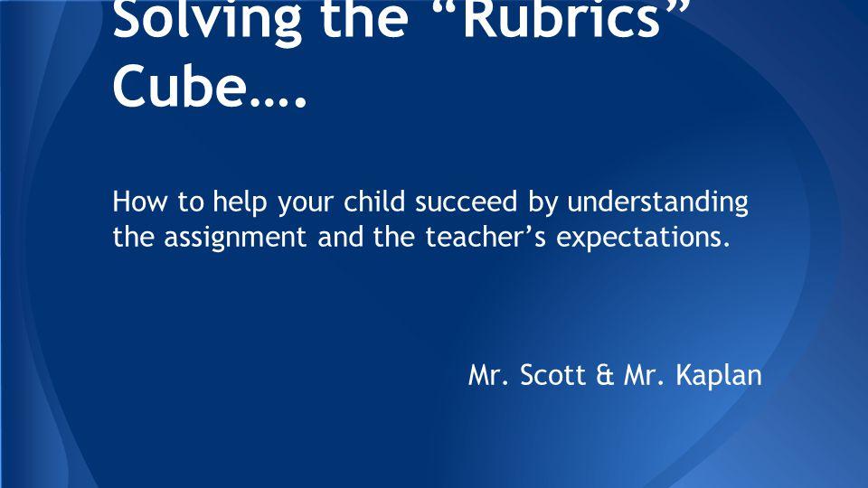 S Solving the Rubrics Cube….