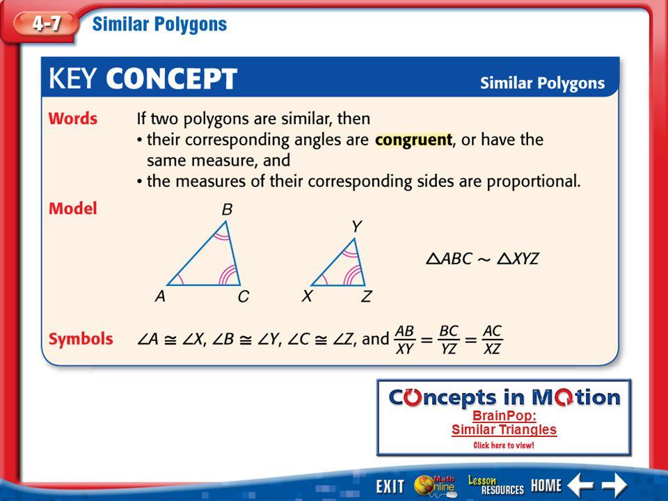 KC 1 BrainPop: Similar Triangles