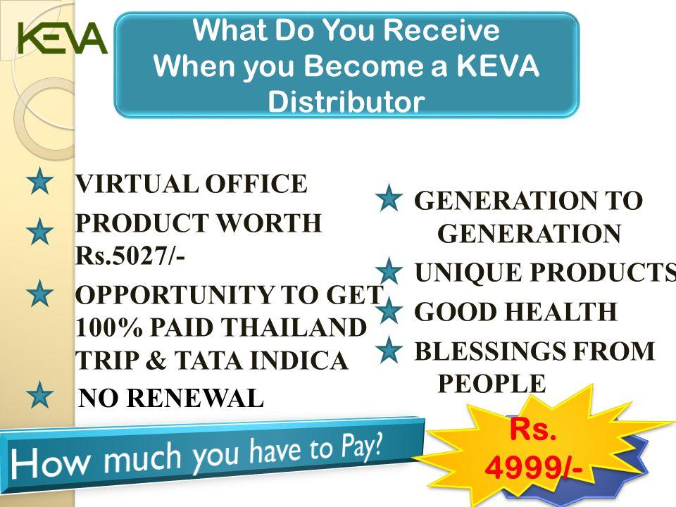 MRP: Rs.4999/- KEVA FAMILY PACK G e t H E A L T H P r o d u c t s W o r t h R s.