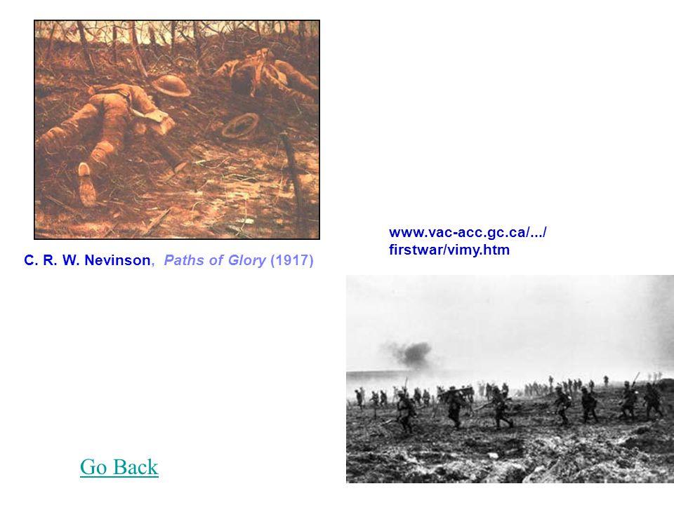 www.vac-acc.gc.ca/.../ firstwar/vimy.htm C. R. W. Nevinson, Paths of Glory (1917) Go Back