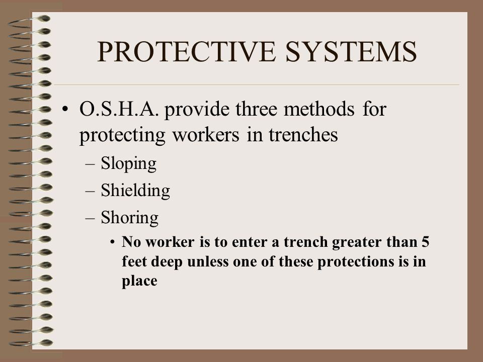 PROTECTIVE SYSTEMS O.S.H.A.