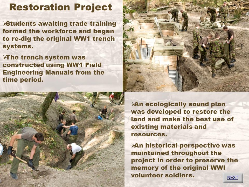 Trench Tour 1.Time Line 4. Technical Overview 2. Preparing to Dig 5.