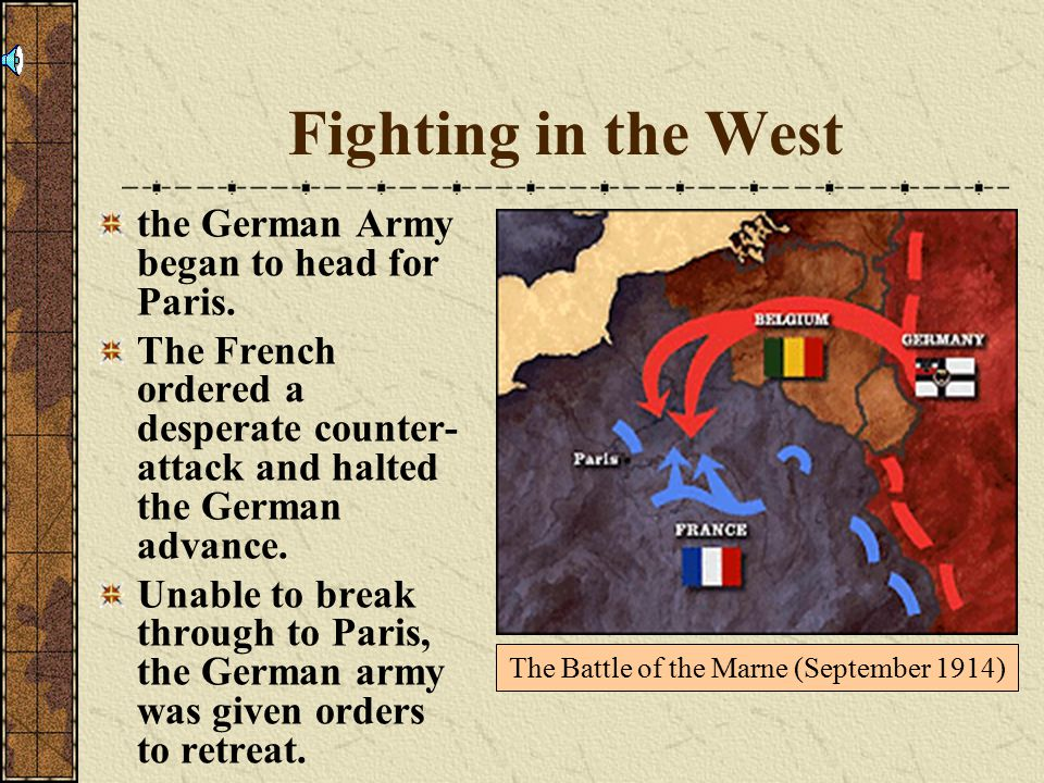 Fighting in the West the German Army began to head for Paris.