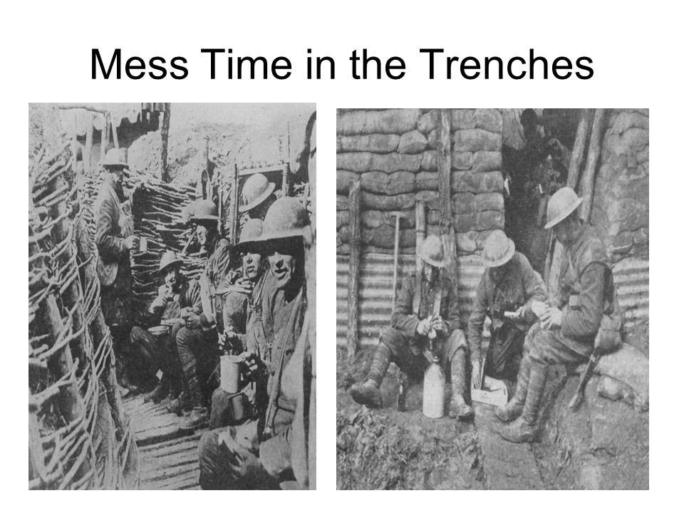 On your Left Side: With your partner, come up with your own joke on an aspect of Trench Life.