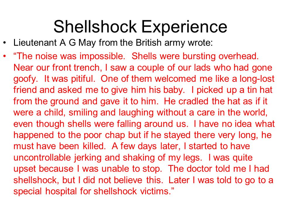 "Stir-Crazy Experiences British Lieutenant Frederick Rees explained: ""Last night a man had an attack of nerves. He picked up a box of bombs, climbed ou"