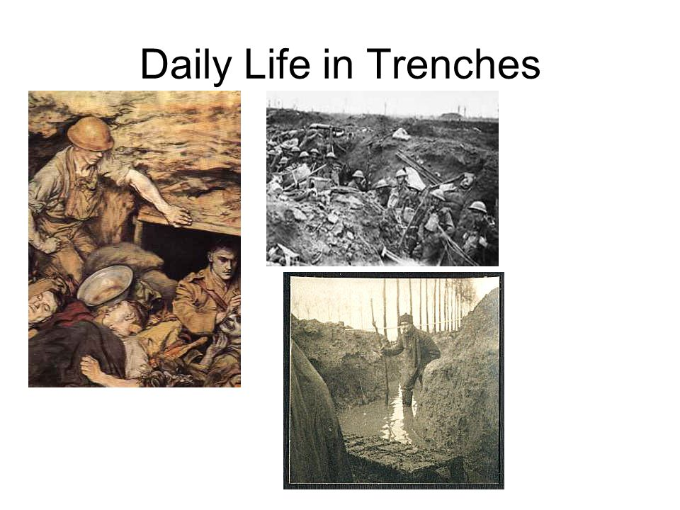 Fear and Anticipation As you sit in the trench, what do you fear? What dangers do you face? How are you preparing, physically and mentally to face tho