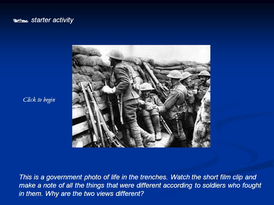  Plenary Go onto the BBC history website and have a go at the interactive task which your teacher shows you.