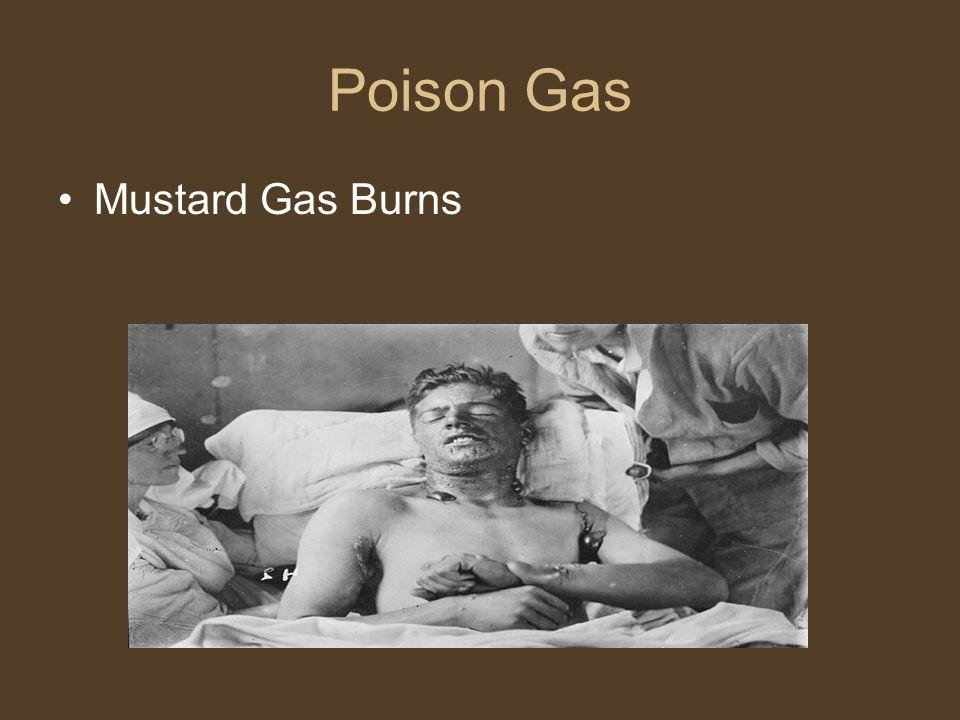 Poison Gas Mustard Gas Burns