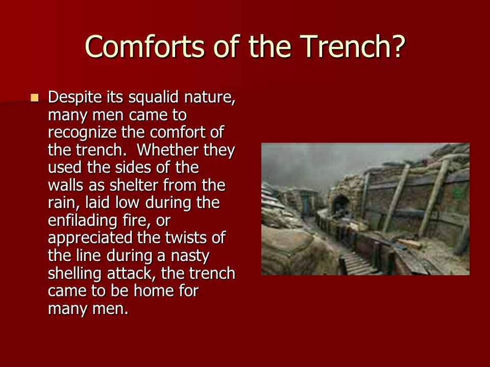 Comforts of the Trench.