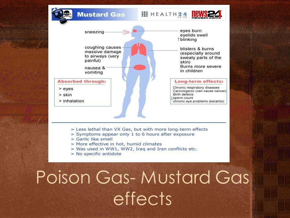 Poison Gas- Mustard Gas effects
