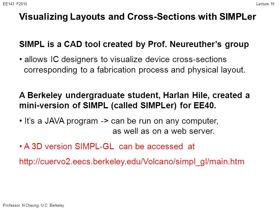 Professor N Cheung, U.C. Berkeley Lecture 19EE143 F2010