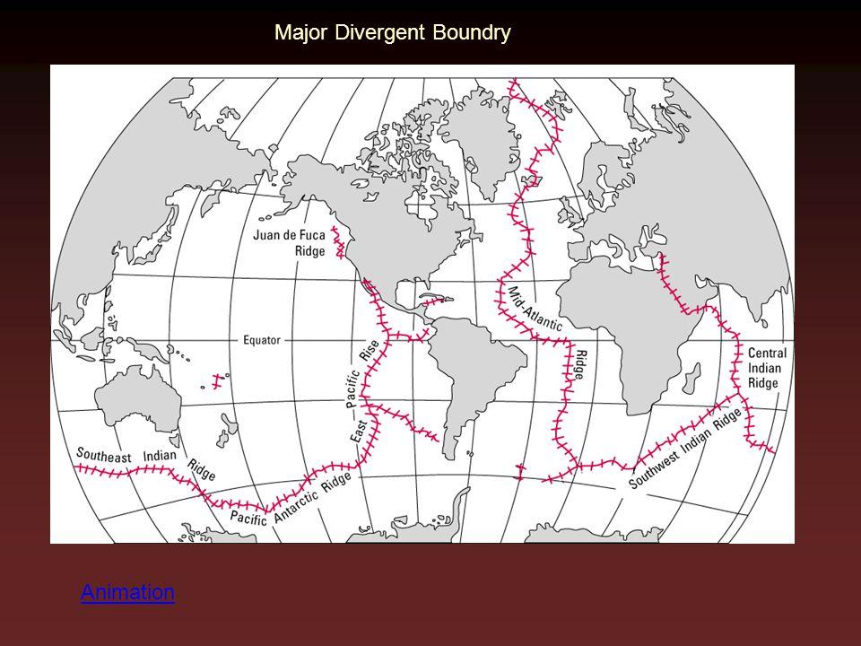 Major Divergent Boundry Animation