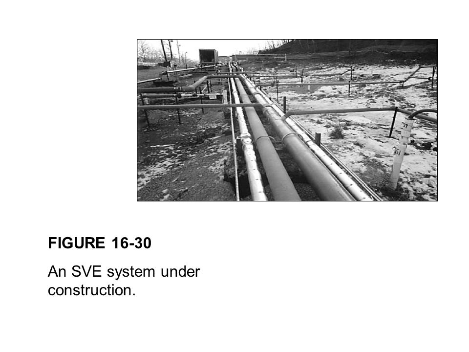 FIGURE 16-30 An SVE system under construction.