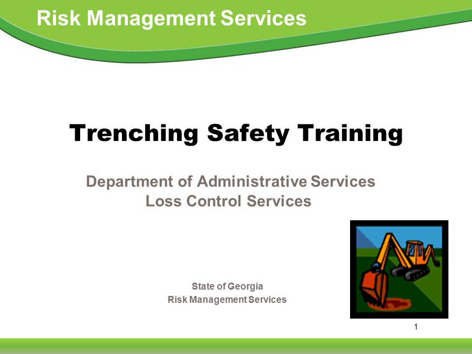 2 Risk Management Services Excavation Hazards  Cave-ins are the greatest risk  Other hazards include: Asphyxiation due to lack of oxygen Inhalation of toxic materials Fire Moving machinery near the edge of the excavation can cause a collapse Accidental severing of underground utility lines