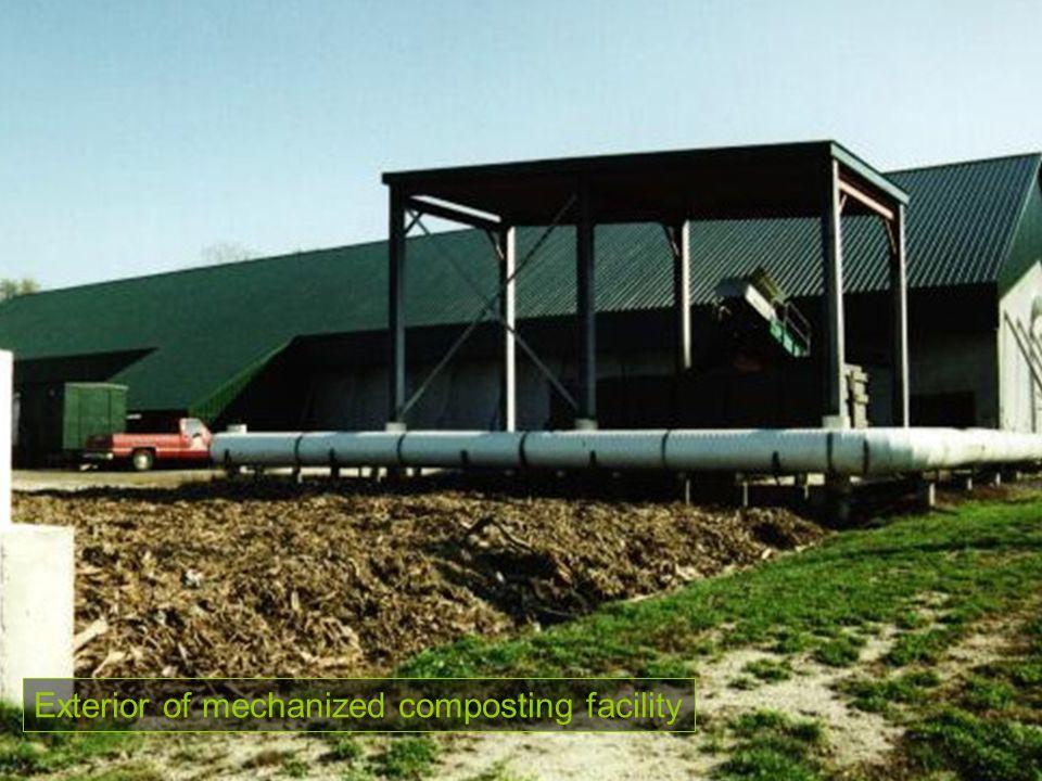 Exterior of mechanized composting facility