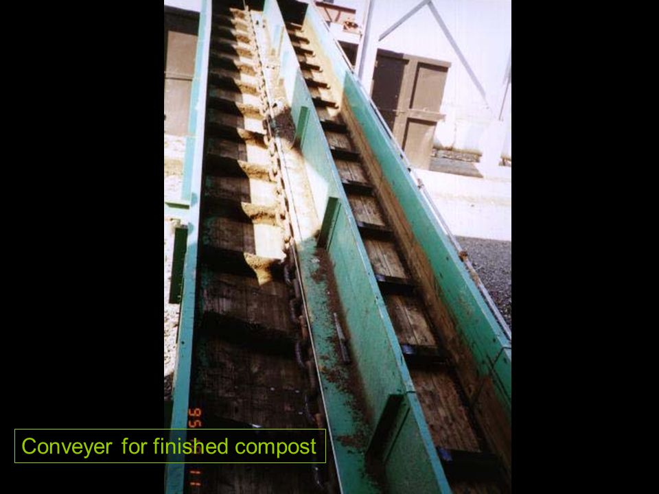 Conveyer for finished compost