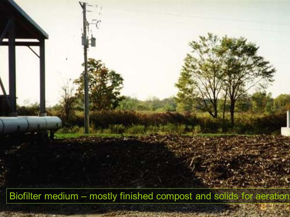 Biofilter medium – mostly finished compost and solids for aeration