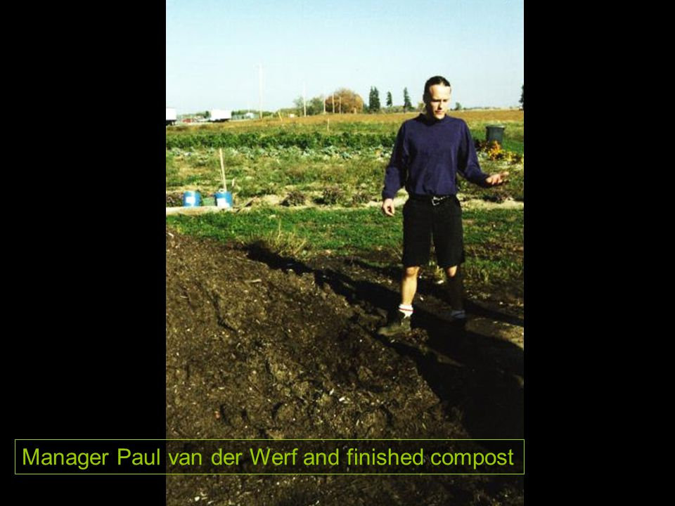 Manager Paul van der Werf and finished compost