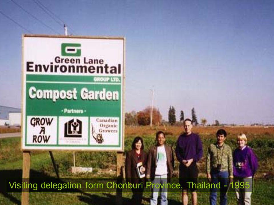 Visiting delegation form Chonburi Province, Thailand - 1995