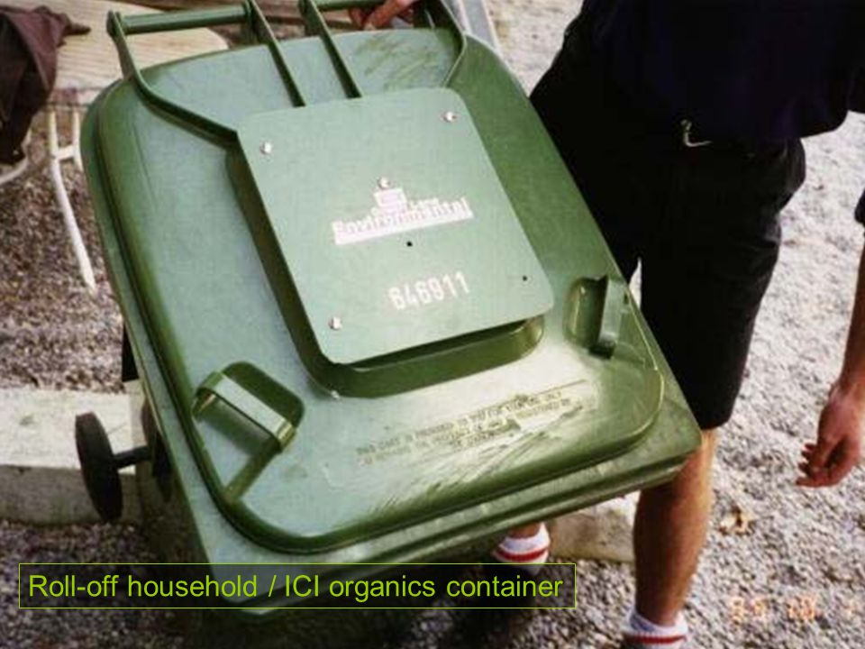 Roll-off household / ICI organics container