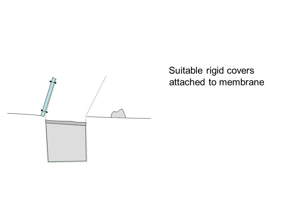 Suitable rigid covers attached to membrane