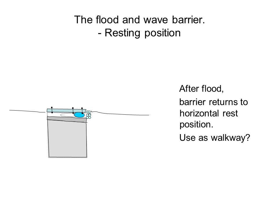 The flood and wave barrier.