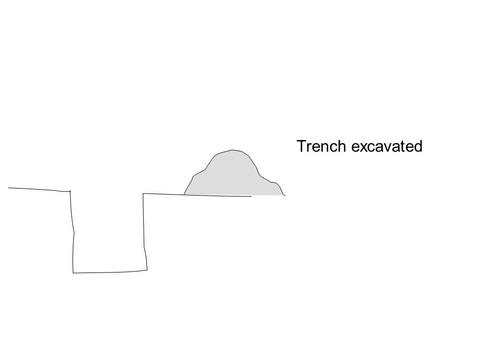 Trench excavated